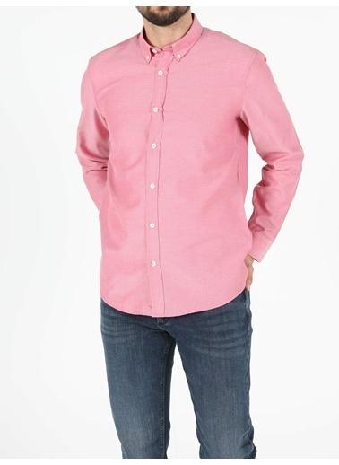 Colin's Regular Fit Shirt Neck Erkek Kırmızı Uzun Kol Gömlek Kırmızı